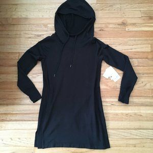 Athleta PIMLICO Plush Sweatshirt Hoodie Dress XS